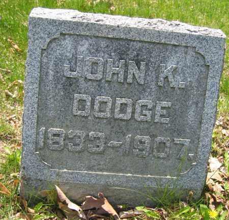 DODGE, JOHN K. - Union County, Ohio | JOHN K. DODGE - Ohio Gravestone Photos
