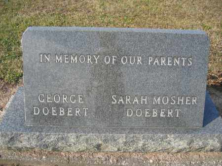 DOEBERT, GEORGE FREDERICK - Union County, Ohio | GEORGE FREDERICK DOEBERT - Ohio Gravestone Photos