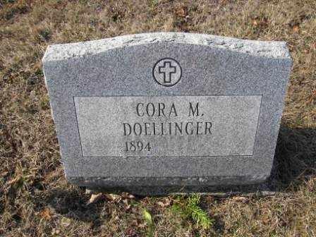 DOELLINGER, CORA M. - Union County, Ohio | CORA M. DOELLINGER - Ohio Gravestone Photos