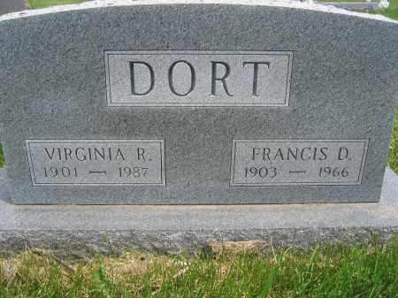 DORT, FRANCIS D. - Union County, Ohio | FRANCIS D. DORT - Ohio Gravestone Photos