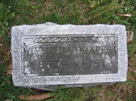 DRAPER, CYNTHIA - Union County, Ohio | CYNTHIA DRAPER - Ohio Gravestone Photos