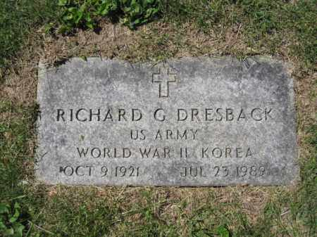 DRESBACK, RICHARD G. - Union County, Ohio | RICHARD G. DRESBACK - Ohio Gravestone Photos