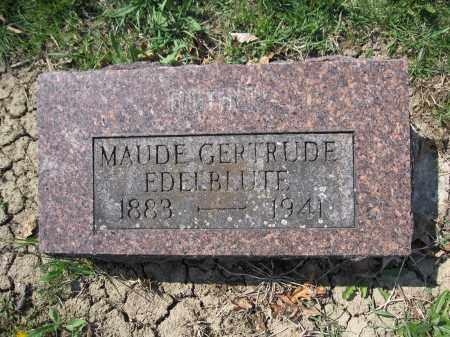 EDELBBLUTE, MAUDE GERTRUDE - Union County, Ohio   MAUDE GERTRUDE EDELBBLUTE - Ohio Gravestone Photos
