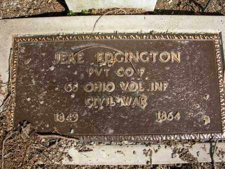 EDGINGTON, JERE - Union County, Ohio | JERE EDGINGTON - Ohio Gravestone Photos