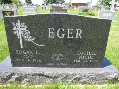 EGER, EDGAR L. - Union County, Ohio | EDGAR L. EGER - Ohio Gravestone Photos