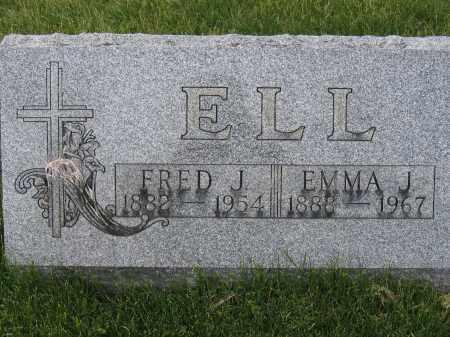ELL, EMMA J - Union County, Ohio | EMMA J ELL - Ohio Gravestone Photos