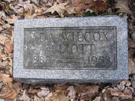 ELLIOTT, ADA WILCOX - Union County, Ohio   ADA WILCOX ELLIOTT - Ohio Gravestone Photos