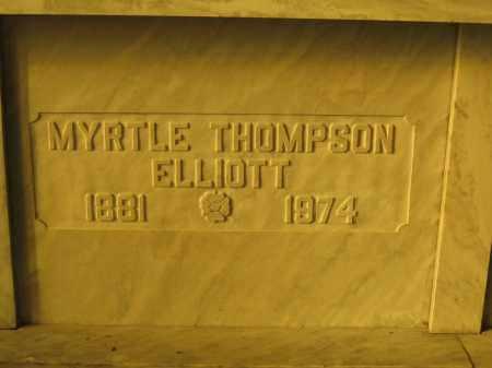 ELLIOTT, MYRTLE THOMPSON - Union County, Ohio | MYRTLE THOMPSON ELLIOTT - Ohio Gravestone Photos