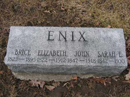ENIX, SARAH E. - Union County, Ohio | SARAH E. ENIX - Ohio Gravestone Photos