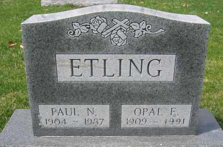 ETLING, OPAL E. - Union County, Ohio   OPAL E. ETLING - Ohio Gravestone Photos