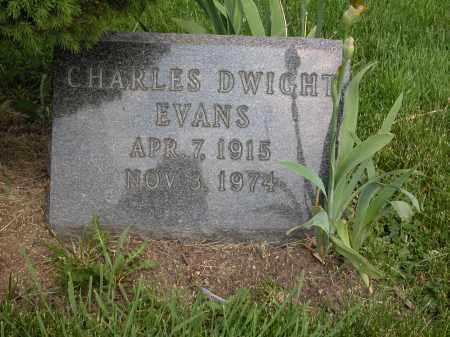 EVANS, CHARLES DWIGHT - Union County, Ohio   CHARLES DWIGHT EVANS - Ohio Gravestone Photos