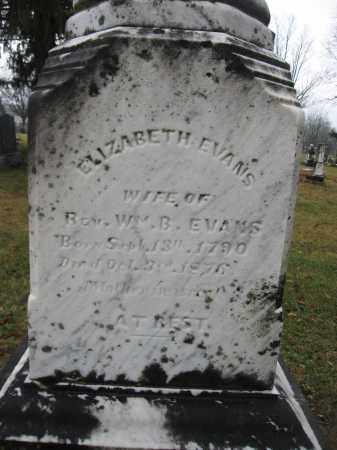 EVANS, ELIZABETH - Union County, Ohio   ELIZABETH EVANS - Ohio Gravestone Photos