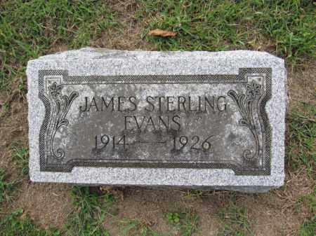 EVANS, JAMES STERLING - Union County, Ohio | JAMES STERLING EVANS - Ohio Gravestone Photos