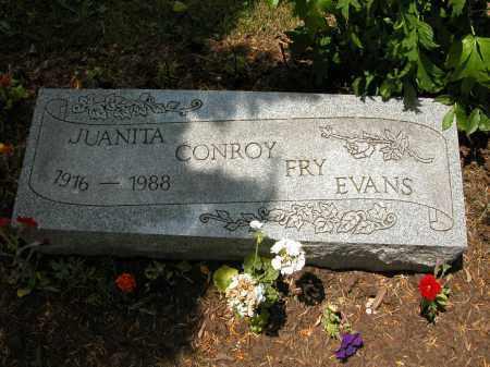 EVANS, JUANITA CONROY FRY - Union County, Ohio | JUANITA CONROY FRY EVANS - Ohio Gravestone Photos