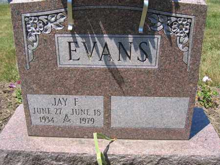 EVANS, JAY F. - Union County, Ohio | JAY F. EVANS - Ohio Gravestone Photos
