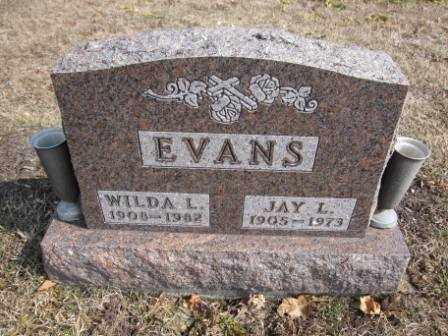 EVANS, WILDA L. - Union County, Ohio | WILDA L. EVANS - Ohio Gravestone Photos