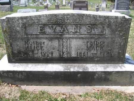 EVANS, MACK - Union County, Ohio   MACK EVANS - Ohio Gravestone Photos