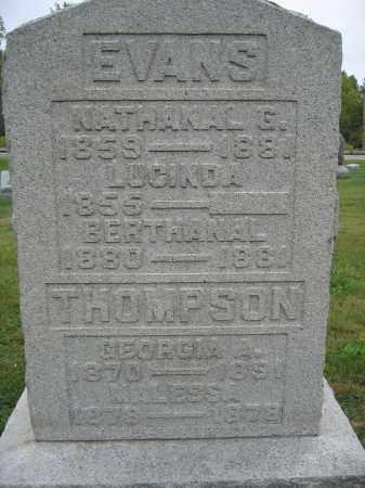 EVANS, LUCINDA - Union County, Ohio | LUCINDA EVANS - Ohio Gravestone Photos
