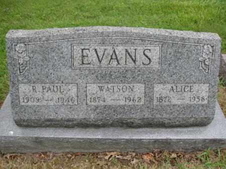 EVANS, R. PAUL - Union County, Ohio | R. PAUL EVANS - Ohio Gravestone Photos