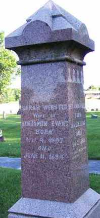 EVANS, SARAH WEBSTER - Union County, Ohio | SARAH WEBSTER EVANS - Ohio Gravestone Photos