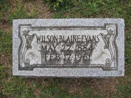 EVANS, WILSON BLAINE - Union County, Ohio | WILSON BLAINE EVANS - Ohio Gravestone Photos