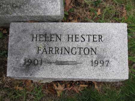 FARRINGTON, HELEN HESTER - Union County, Ohio   HELEN HESTER FARRINGTON - Ohio Gravestone Photos