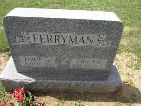 FERRYMAN, JANE L.B. - Union County, Ohio | JANE L.B. FERRYMAN - Ohio Gravestone Photos