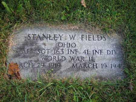 FIELDS, STANLEY W. - Union County, Ohio   STANLEY W. FIELDS - Ohio Gravestone Photos