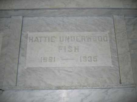 FISH, HATTIE UNDERWOOD - Union County, Ohio | HATTIE UNDERWOOD FISH - Ohio Gravestone Photos