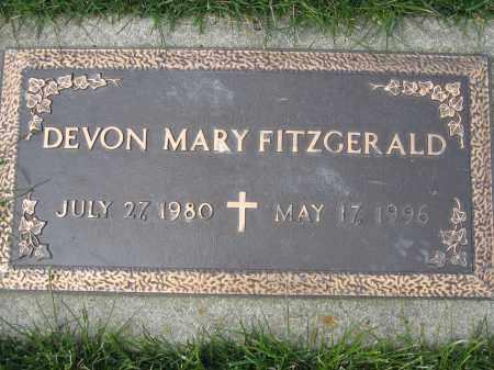 FITZGERALD, DEVON MARY - Union County, Ohio | DEVON MARY FITZGERALD - Ohio Gravestone Photos