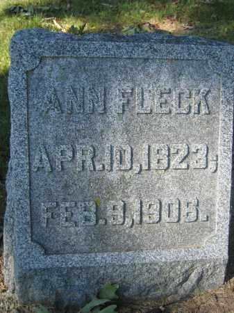 FLECK, ANN - Union County, Ohio | ANN FLECK - Ohio Gravestone Photos