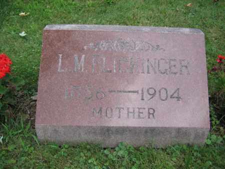 FLICKINGER, L.M. - Union County, Ohio   L.M. FLICKINGER - Ohio Gravestone Photos