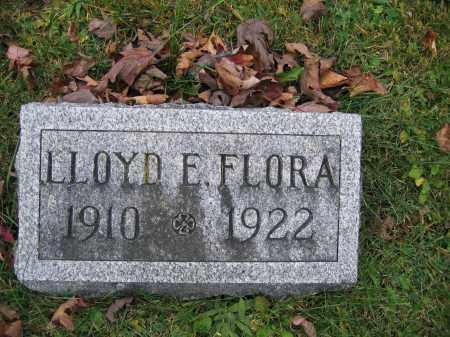 FLORA, LLOYD E. - Union County, Ohio   LLOYD E. FLORA - Ohio Gravestone Photos