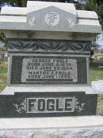 FOGLE, GEORGE - Union County, Ohio | GEORGE FOGLE - Ohio Gravestone Photos