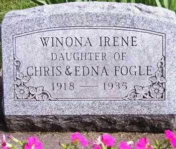 FOGLE, WINONA IRENE - Union County, Ohio | WINONA IRENE FOGLE - Ohio Gravestone Photos