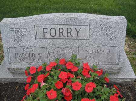 FORRY, HAROLD W. - Union County, Ohio | HAROLD W. FORRY - Ohio Gravestone Photos