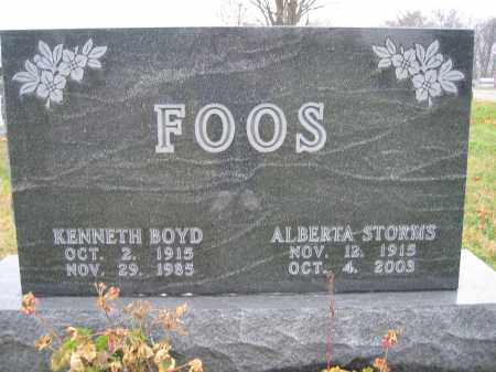 FOSS, ALBERTA STORMS - Union County, Ohio | ALBERTA STORMS FOSS - Ohio Gravestone Photos