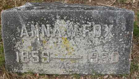 FOX, ANNA W. - Union County, Ohio | ANNA W. FOX - Ohio Gravestone Photos