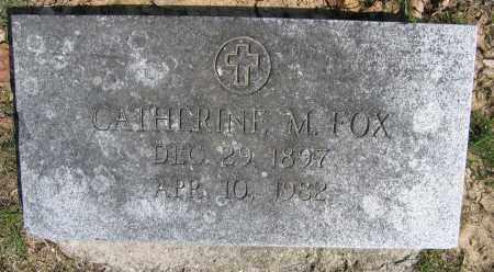FOX, CATHERINE M. - Union County, Ohio   CATHERINE M. FOX - Ohio Gravestone Photos