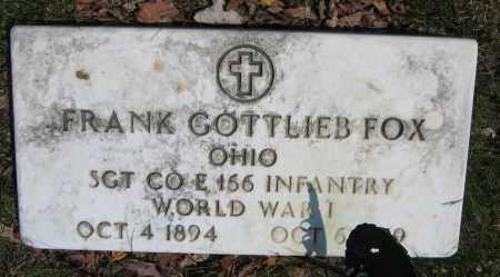 FOX, FRANK GOTTLIEB - Union County, Ohio | FRANK GOTTLIEB FOX - Ohio Gravestone Photos