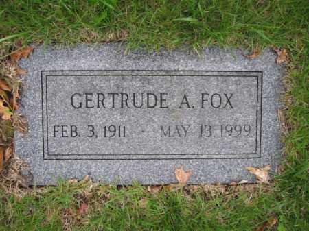 FOX, GERTRUDE A. - Union County, Ohio   GERTRUDE A. FOX - Ohio Gravestone Photos