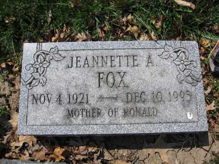 FOX, JEANNETTE A. - Union County, Ohio | JEANNETTE A. FOX - Ohio Gravestone Photos