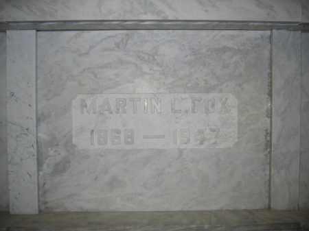 FOX, MARTIN L. - Union County, Ohio | MARTIN L. FOX - Ohio Gravestone Photos