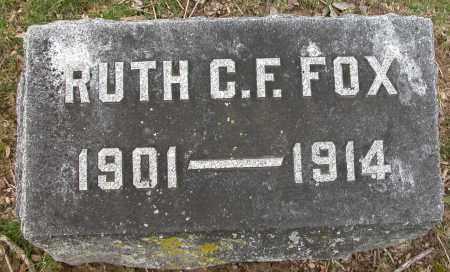 FOX, RUTH C.F. - Union County, Ohio | RUTH C.F. FOX - Ohio Gravestone Photos