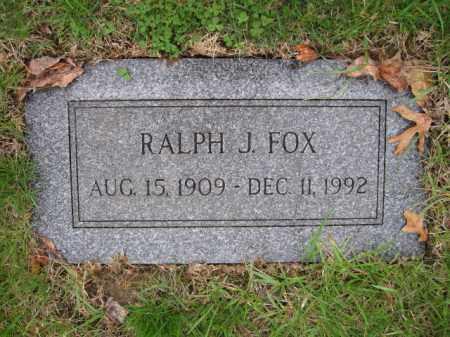 FOX, RALPH J. - Union County, Ohio | RALPH J. FOX - Ohio Gravestone Photos