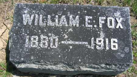FOX, WILLIAM E. - Union County, Ohio | WILLIAM E. FOX - Ohio Gravestone Photos
