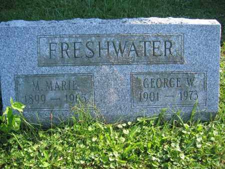 FRESHWATER, M. MARIE - Union County, Ohio   M. MARIE FRESHWATER - Ohio Gravestone Photos