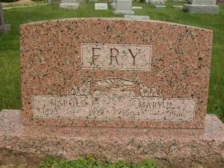 FRY, HAROLD E. - Union County, Ohio | HAROLD E. FRY - Ohio Gravestone Photos