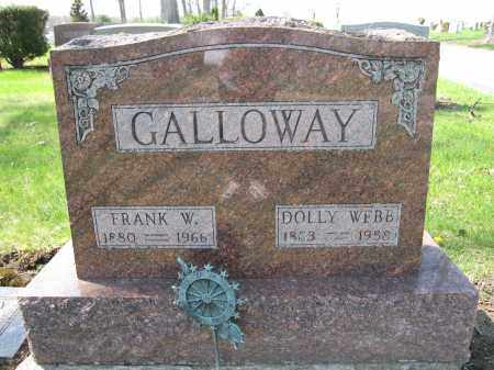 GALLOWAY, DOLLY WEBB - Union County, Ohio | DOLLY WEBB GALLOWAY - Ohio Gravestone Photos