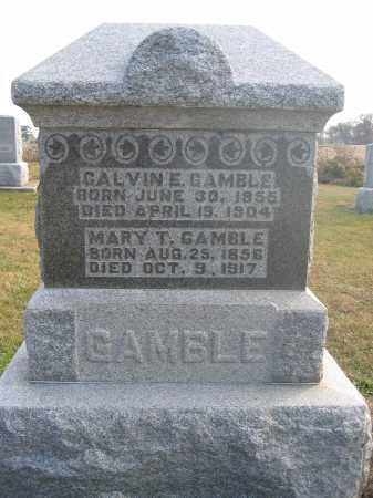 GAMBLE, MARY T. - Union County, Ohio | MARY T. GAMBLE - Ohio Gravestone Photos